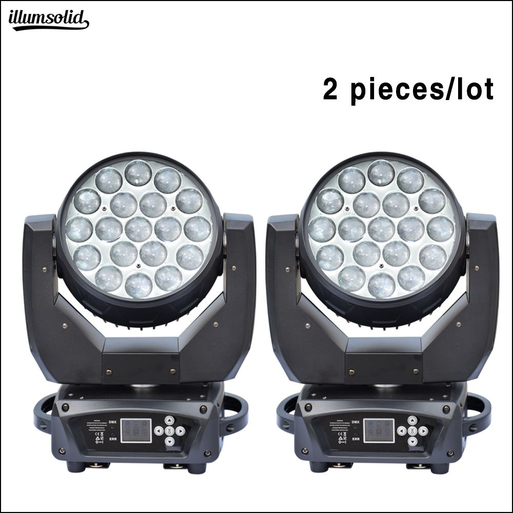 19x15 W RGBW 4in1 zoom Waschen Effekt moving head Konzert Disco licht 2 teile/los