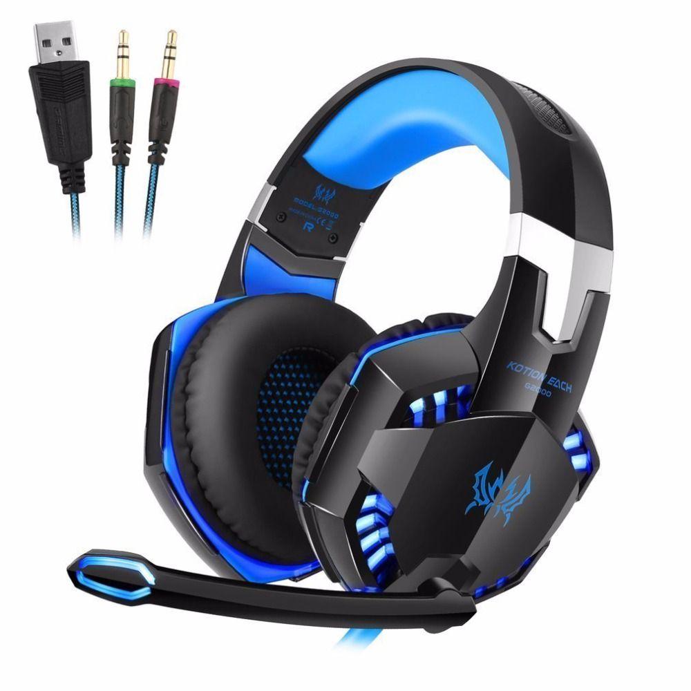 Chaque G2000 Ordinateur Fil de Jeu Casque Gaming Casque Sur L'oreille casque gamer Jeu Casque Avec Microphone pour Ordinateur PC