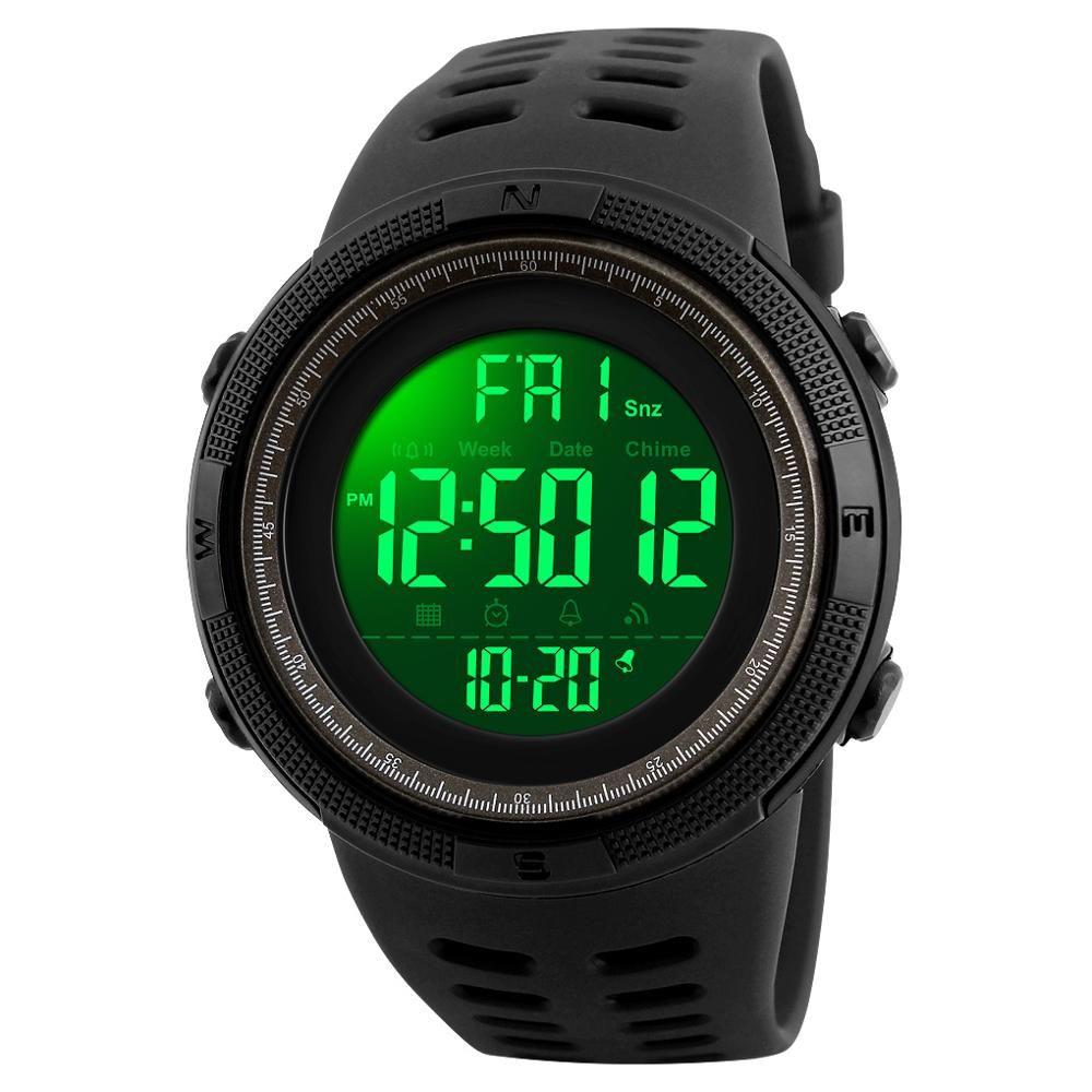 SKMEI marque hommes sport montres de luxe montres militaires pour hommes en plein air électronique numérique montre mâle horloge Relogio Masculino