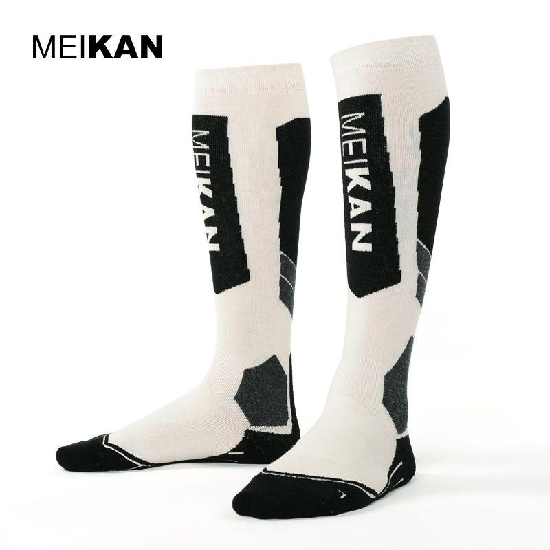 MKSK2017002 High Quality Men/Women Mercerized Merino Wool Ski Socks Outdoor Thicken Terry Thermal Sports Long Socks Knee High