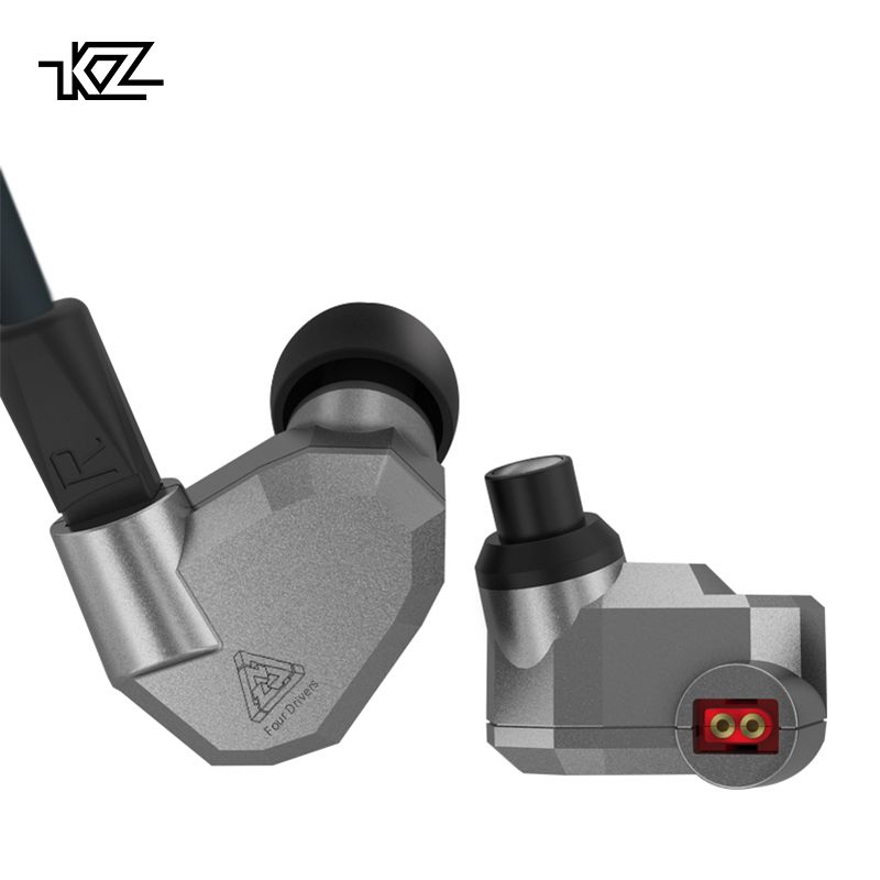 KZ ZS5 Double Hybrid Dynamic and Balanced Armature Sport Earphone <font><b>Four</b></font> Driver In Ear Headset Noise Isolating HiFi Music Earbuds