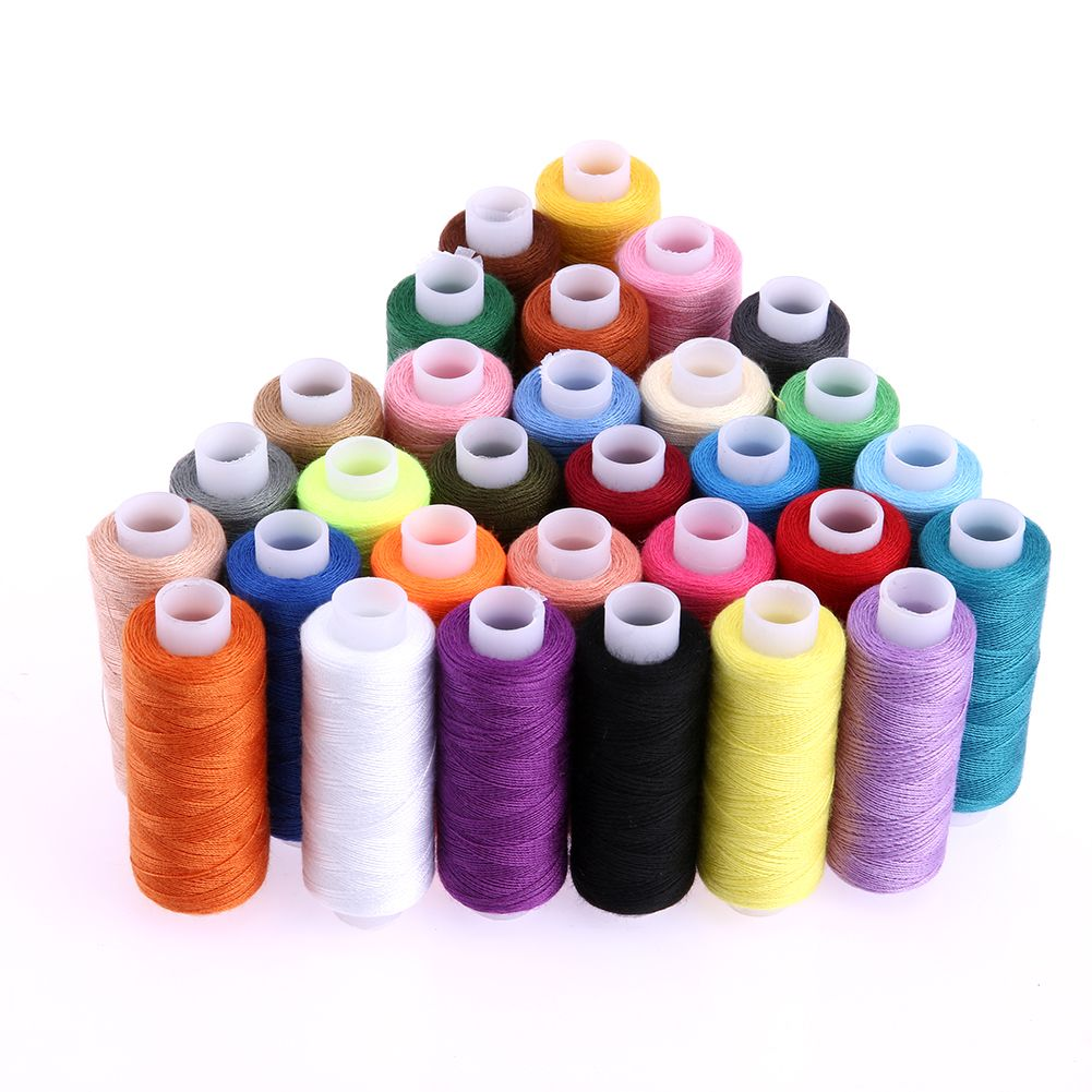 30 Colours 250 Yard Polyester Sewing Threads Embroidery Threads for Quilting Stitching Sewing Supplies Wholesale