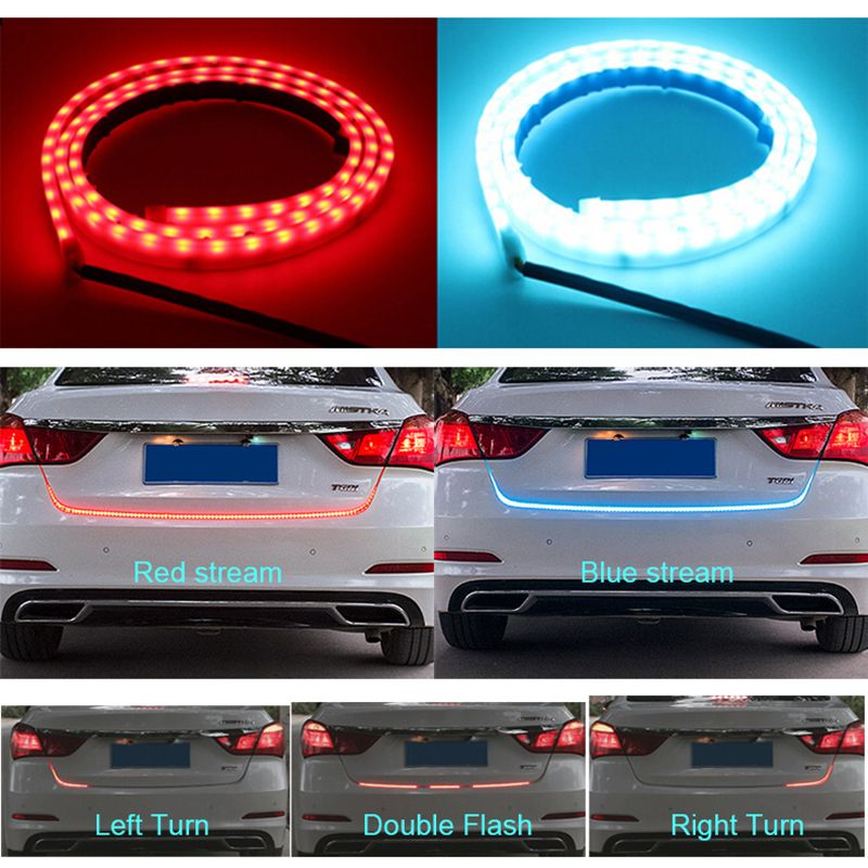 120cm 150cm 335 LED Dynamic Streamer Turn Signal Tail Box Trunk Lights Luggage Compartment Tailgate LED Warning Light Strips