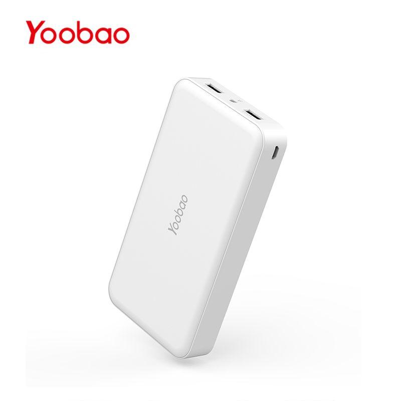 Yoobao M16 16000mAh batterie externe portable 2 USB Charge rapide Powerbank Portable chargeur de batterie externe pour Xiao mi iPhone