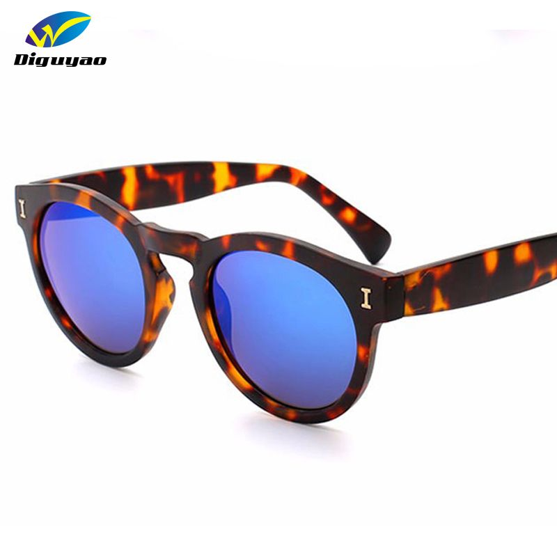 Мода 2017 г. Для женщин круглые солнцезащитные очки бренд Дизайн Винтаж Покрытие Солнцезащитные очки зеркало Очки Для женщин Óculos де золь