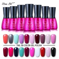 Beau Gel UV Nail Gel Polish 7 ml Gelplish Manucure Tremper Off UV LED Ongles Gel Laque Professionnel Vernis Semi Permanent polonais