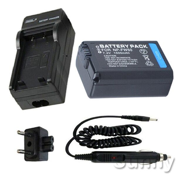 Batterie + Ladegerät für Sony Alpha NEX-5K, NEX 5R, NEX-5RL, NEX 5 T, NEX-5TL, NEX-5TY, NEX-5NK, NEX-5ND, NEX-5NL Digitalkamera