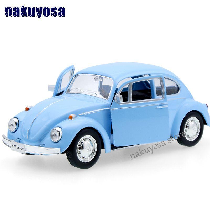 Niños uni-fortuna 1967 volkswagen escarabajo modelo de coche 1:32 5 pulgadas diecast metal de aleación cars tire del juguete niños regalo 12.5*5*3.5 cm