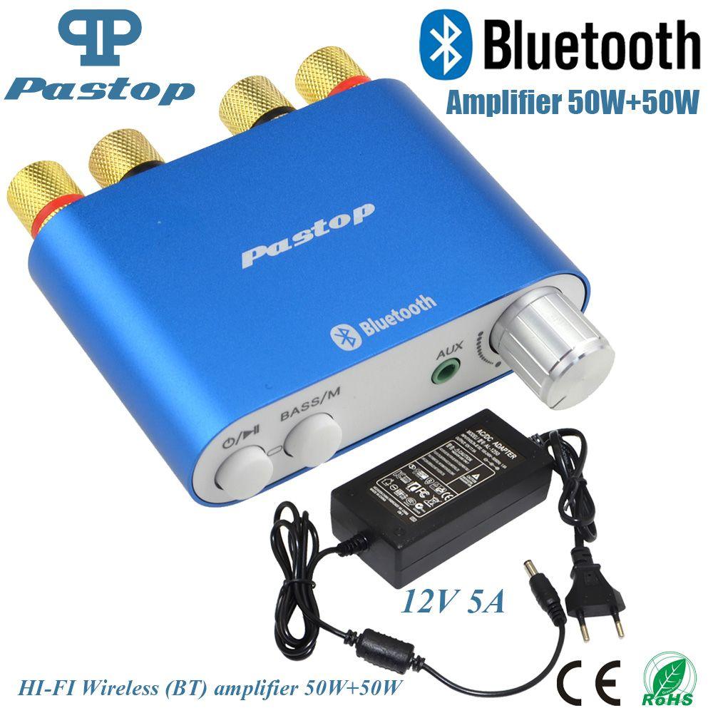 2017 Lastest HiFi 100W TPA3116 Mini Bluetooth 4.0 Digital Amplifier Amp Home Audio With Power Supply FREE SHPPING-10000409_B