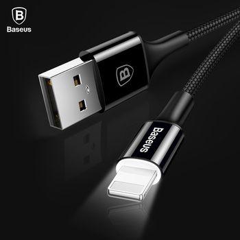 Baseus LED éclairage Chargeur Câble Pour iPhone X 8 7 USB câble Pour iPhone iPad Charge Rapide Chargeur Câble de Données de Téléphone Mobile câble