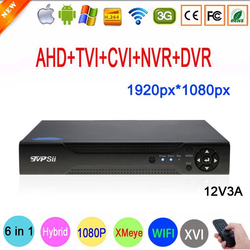 Caméra de Surveillance 2MP Xmeye 1080P Hi3531A 16CH 16 canaux 6 en 1 Coaxial WIFI hybride NVR CVI TVI AHD CCTV DVR livraison gratuite