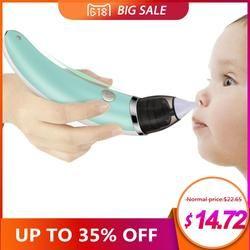 Aspirator Bayi Nasal Listrik Aman Higienis Pembersih Hidung dengan 2 Ukuran Hidung dan Mulut Ingus Sucker untuk Bayi Baru Lahir anak Gadis