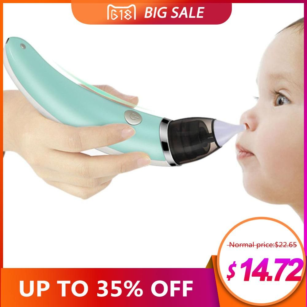 Baby Nasal Aspirator Electric Safe Hygienic Nose Cleaner With 2 Sizes Of Nose Tips And Oral Snot Sucker For Newborns Boy Girls