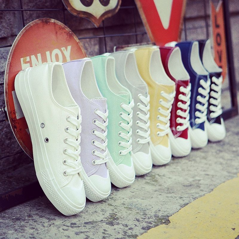 Women shoes 2017 new white canvas shoes female spring and summer white casual shoes woman students sneakers