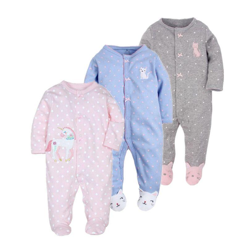 Vêtements de bébé! 2019 nouveau-né bébé vêtements nouveau-né-1 ans ropa bébé fille barboteuse 100% coton bébé costume