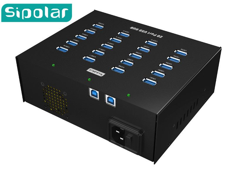 Box shape USB HUB,Sipolar well work 20 ports USB 3.0 HUB