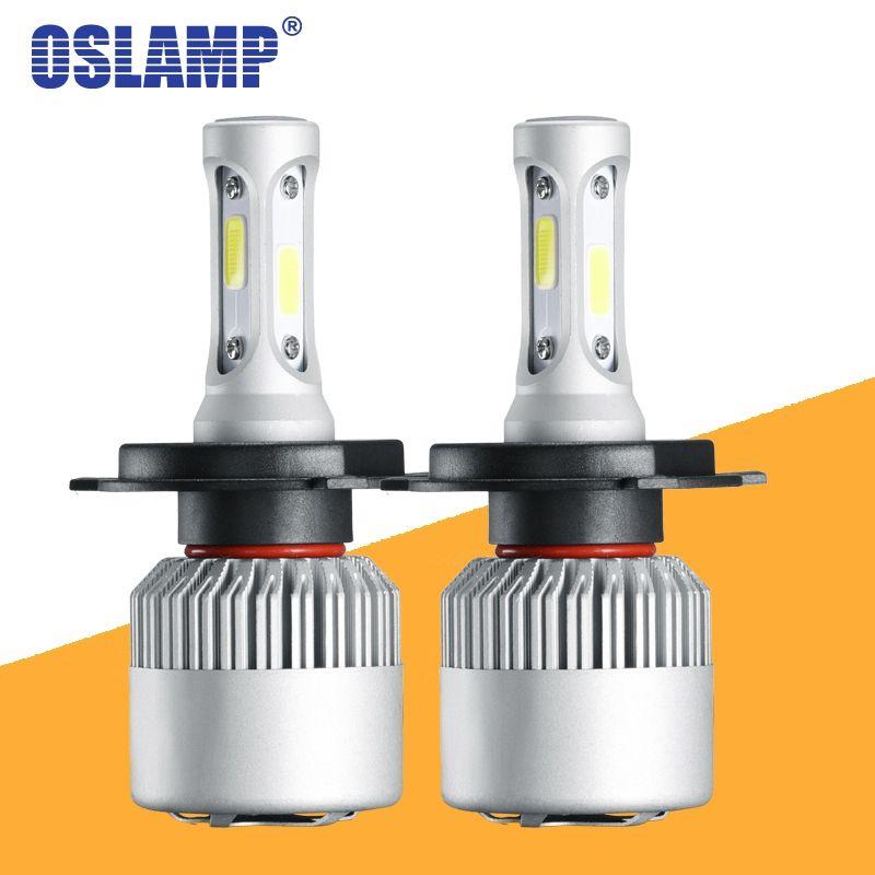 Oslamp S2 H4 H7 H13 H11 H1 9005 9006 H3 9004 9007 9012 COB phare LED 72 W 8000LM Voiture phare LED s Ampoule LED 4300 K 6500 K 12 V