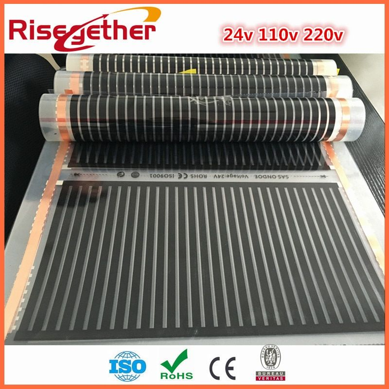 11 Meter Free Shipping Safety and Heathy Floor Warm System 220w 220V Intelligent Flexible Far infrared PTC Carbon Heating Film