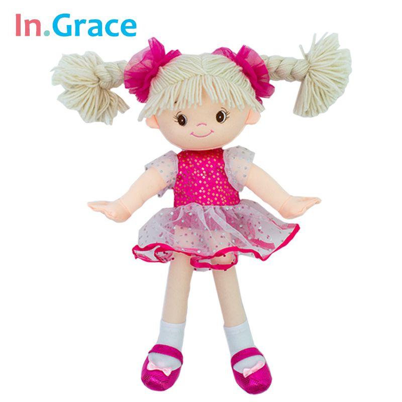 Princesse peluche filles poupées avec voile robe belle chapeaux enfants filles en peluche cadeau d'anniversaire 35 CM rouge filles poupée livraison gratuite