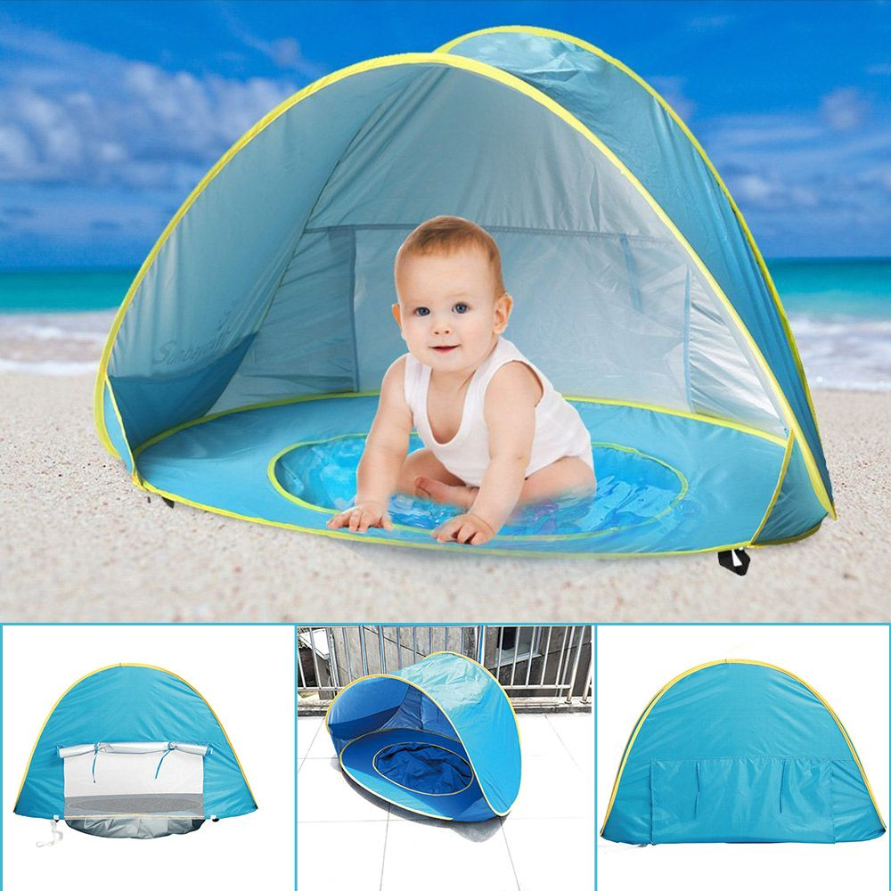 Children's Tent Toys Baby Beach Tent UV-Protection Sun Shelter Pool With Balls Infant Tents Small <font><b>House</b></font> Ball Pit Play Tents Toy
