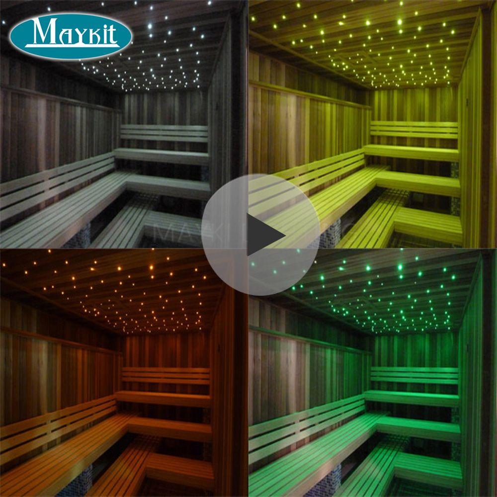 Maykit LED 5 W Fibre Licht Motor Mit 1,5mm 2 m Ende Beleuchtet Stränge Für Sauna Sterne Decke Schlafzimmer bad Dampfbad Dekoration