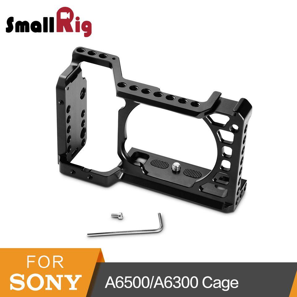 SmallRig Für Sony A6500/A6300 Kamera Käfig Verbesserte Version Schutzhülle Dslr Kamera Rig Für Sony A6500 Aluminium Legierung Käfig -1889