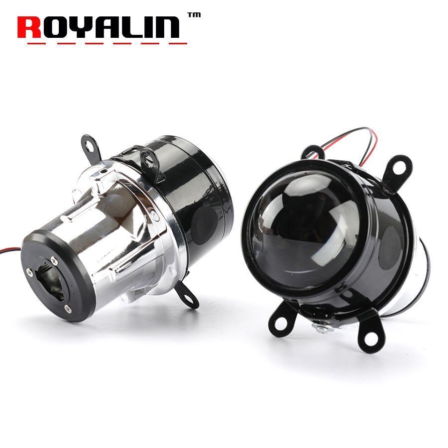ROYALIN 2.5 inch Fog Light Projector Lens H11 Bulbs Hi/Lo Beam Bi-Xenon HID Car-Styling Universal Retrofit Fog Lamp Waterproof