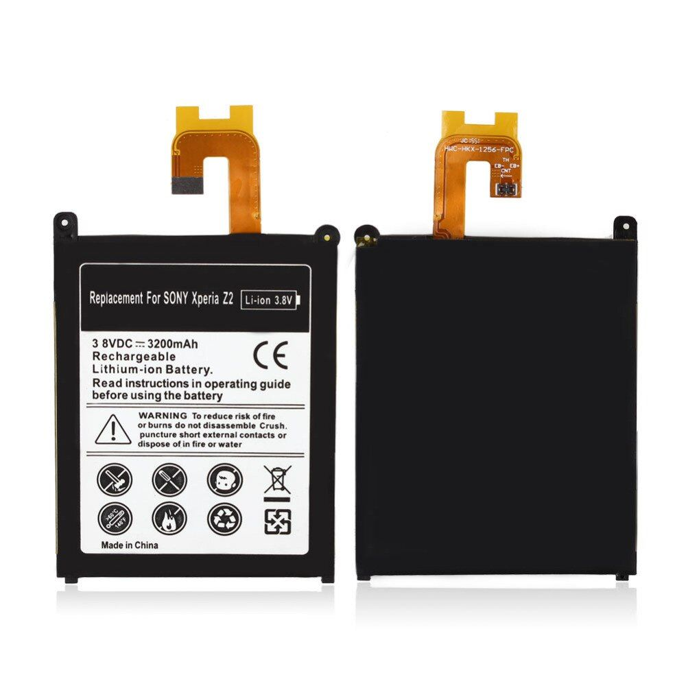 High Capacity 3200mAh Rechargeable Lithium Ion Replacement Battery For Sony Xperia Z2 L50t L50w bateria battery