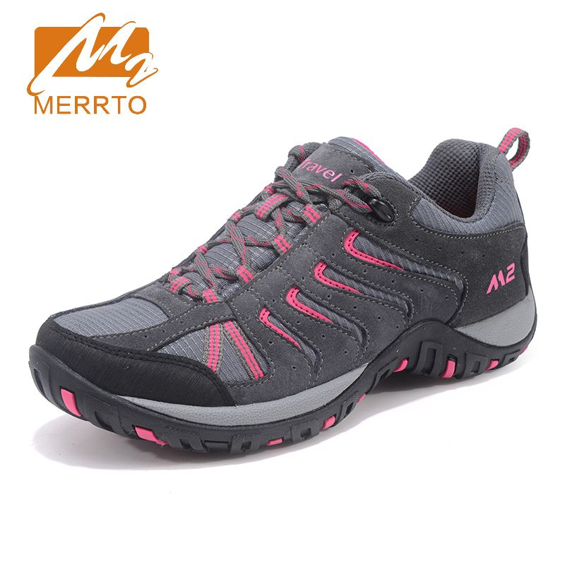Merrto 2017 Walking Shoes For Women Breathable Outdoor Sneakers Climbing Sports Shoes Non-slip Travel Athletic Shoes MT18693