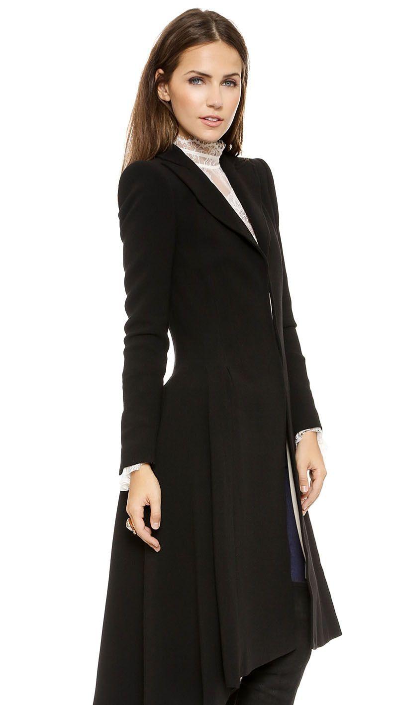 Women Coats Autumn winter swallowtail Black long Trench Dovetail Plus Size 5XL 6XL <font><b>Female</b></font> Wool Coat jackets Outwear