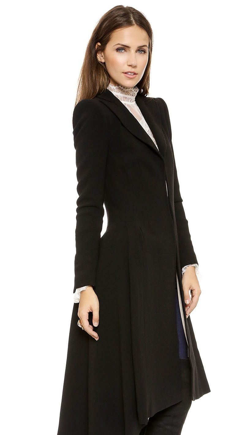 Women Coats Autumn winter swallowtail Black long Trench Dovetail Plus <font><b>Size</b></font> 5XL 6XL Female Wool Coat jackets Outwear