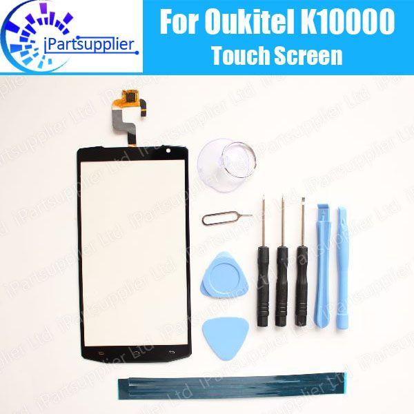 OUKITEL K10000 Touch Screen Panel 100% Guarantee New Original Glass Panel Touch Screen Glass For OUKITEL K10000+tool+Adhesive
