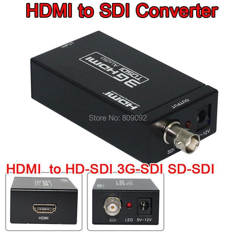 MINI HDMI zu SDI SD-SDI HD-SDI 3G-SDI Konverter HD 1080 P Video Audio Converter-Adapter Mit Netzteil
