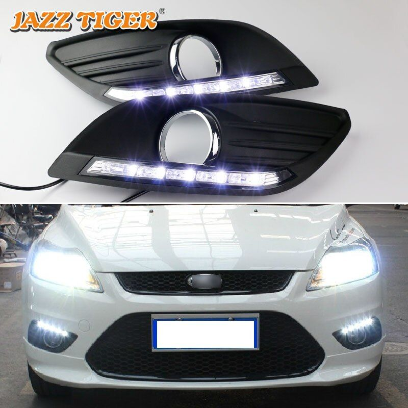JAZZ TIGER Auto Off Funktion Wasserdicht 12 V Auto LED DRL Lampe LED Tagfahrlicht Für Ford Focus 2 MK2 2009 2010 2011