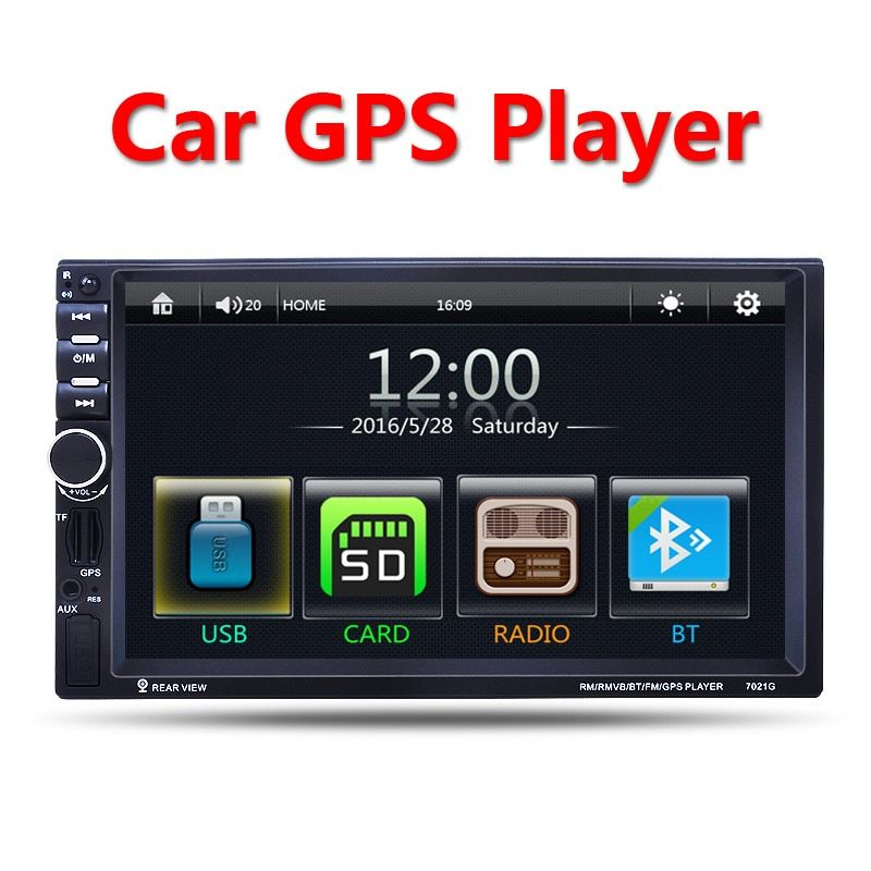 2 Din Auto Multimedia Player GPS-navigation 7 ''HD Bluetooth Stereo Radio FM MP3 MP5 Audio Video USB Auto Elektronik autoradio