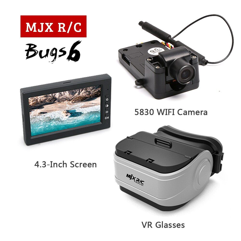 MJX Bugs 6 & B6 RC Drone Spare Parts with 5.8G C5830 FPV Camera,2.4-inch Display,VR Glasses For MJX RC Quadcopter Accessories