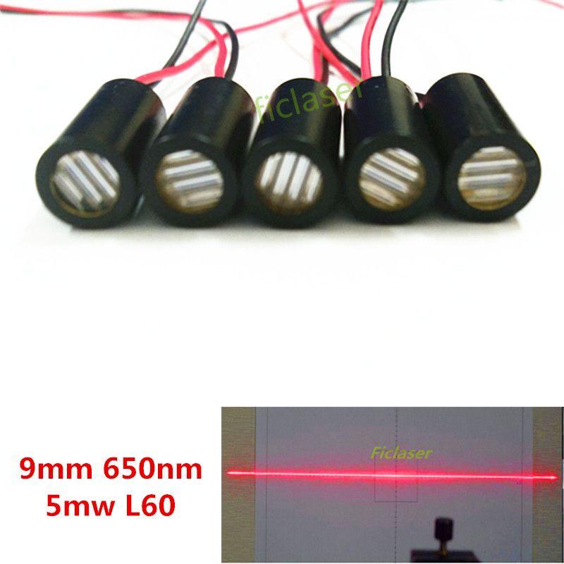9mm 650nm 5 mW Módulo Láser de Línea de 60 grados Grado Industrial Controlador APC