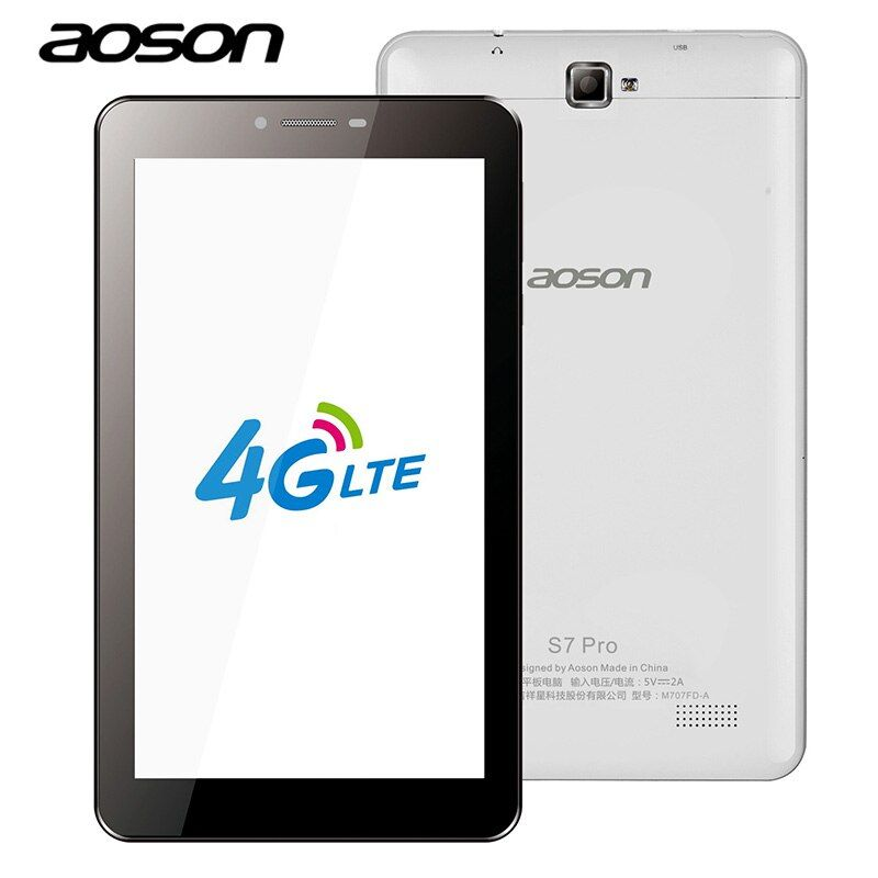 Aoson S7 PRO 7 inch 3G 4G LTE-FDD Phablet 1GB 8GB HD IPS Android 6.0 Phone Call Tablets PC Dual Cameras wifi GPS 7 8 10 10.1