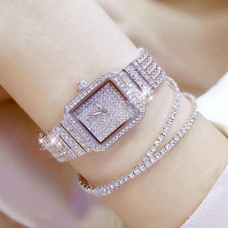 2017 Women Quartz Watches Luxury Diamond Elegant Dress Watches Ladies Wristwatch Relogios Femininos saat Girl Female Clock ZDJ