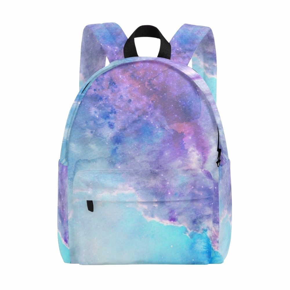 Unicreate Children Space Star Backpack Galaxy Backpack For Teenage Girls Boys Canvas Bags for Travel Women Bag Starry Sky 14Inch