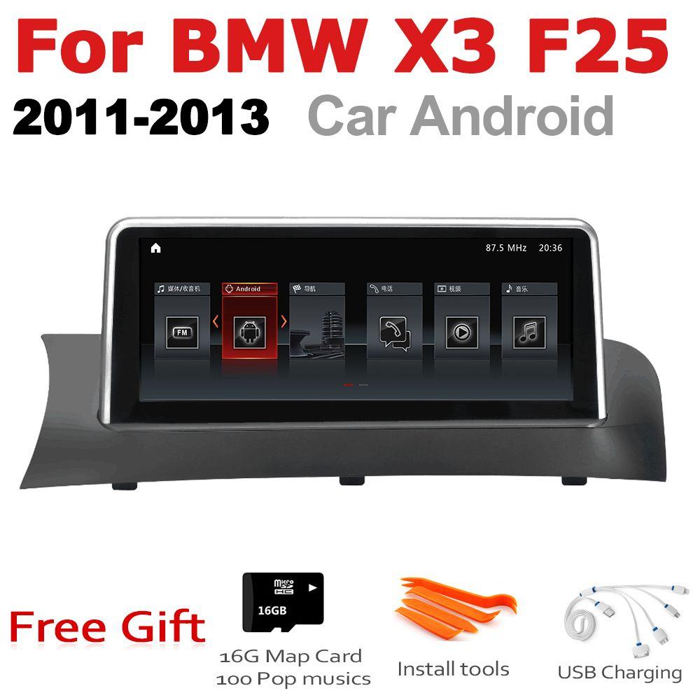 Auto Android Radio GPS Multimedia player Für BMW X3 F25 2011 ~ 2013 CIC stereo HD Screen-Navigation Navi Media