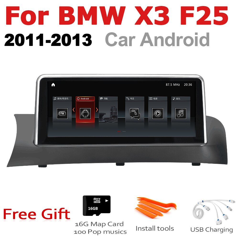 Auto Android Radio GPS Multimedia player Für BMW X3 F25 2011 ~ 2013 CIC stereo HD Screen-Navigation Navi Media