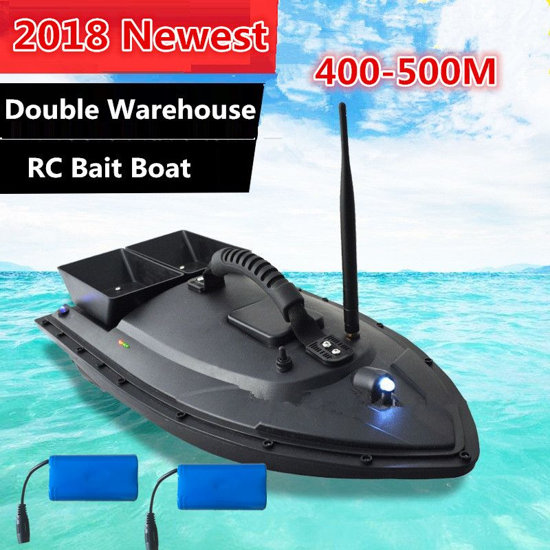 2018 Auto RC Remote Control Fishing Bait Boat Toy 2.4G 500M Waterproof grass Twin-Bucket Roll RC Dipping boat With Night Light