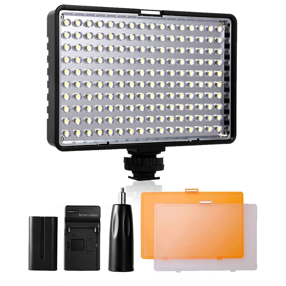 Travor 160 LED panneau lumineux de lampe de lumière vidéo/sur l'appareil photo 5600 K/3200 K Dimmable pour Canon Nikon DSLR appareil photo éclairage de photographie