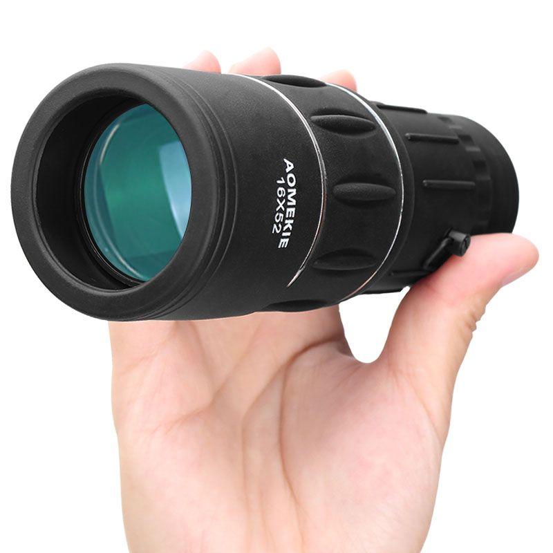 AOMEKIE 16X52 monoculaire lentille à revêtement intégral double foyer haute puissance HD pêche en plein air chasse télescope observation des oiseaux longue portée