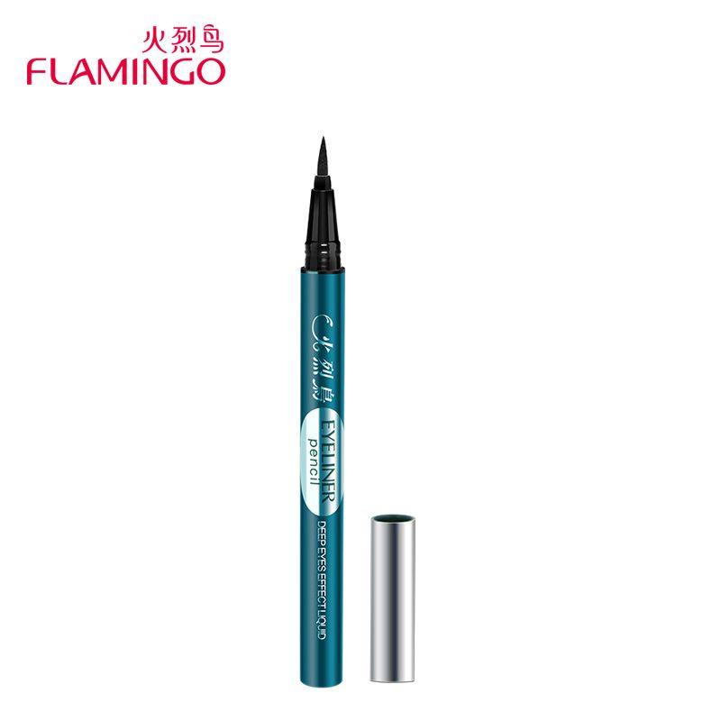 Maquillaje de ojos Marca Flamingo Delineador Feutre duradero Anti-sudor fácil de Usar Delineador Líquido de Secado Rápido Negro lápiz 796