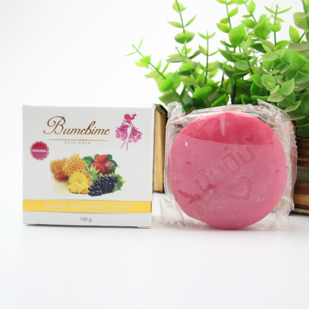 Bumebime Jabón Hecho A Mano Jabón Blanqueamiento Jabón de Aceite Esencial de Frutas de Tailandia Bath and Body Works Belleza Tailandesa Cleasing Facial Producto