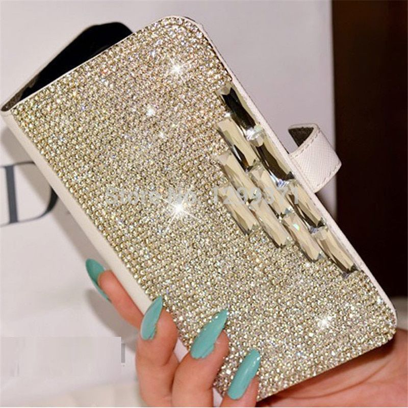 Bling Diamond Flip portefeuille en cuir étui pour iphone XS Max XR X 8 7 6 6 S 5 5 S Samsung Galaxy S10E S10/9/8/7 Edge Plus Note 9 8 5