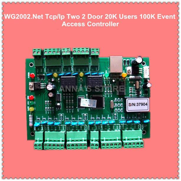 WG2002.NET TCP/IP Dos 2 Usuarios de Puerta de Acceso Del Controlador 20 K 100 K Eventos MEM Protección y Alarma Programable del Disparador del Fuego lógica