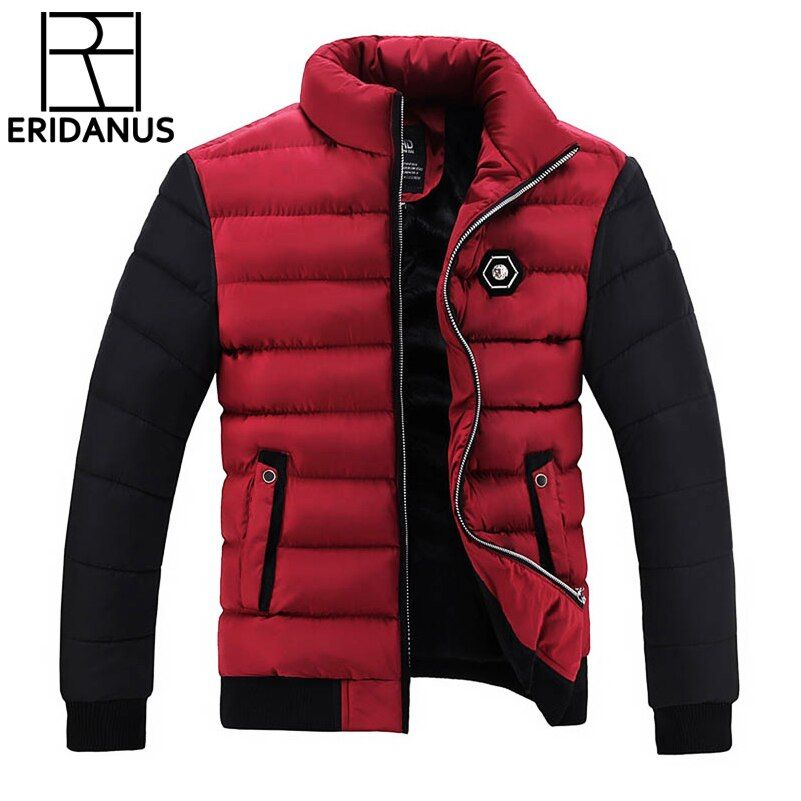 Winter Jacket Men Coats 2017 New Slim Fit Stand Collar Cotton-Padded Brand Fashion Parkas Coats Jackets Outerwear 3XL 4XL X396